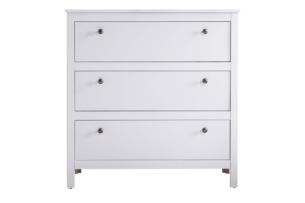 FARGE, https://konsimo.pl/kolekcja/farge/ Elegancka komoda z szufladami biała biały - zdjęcie