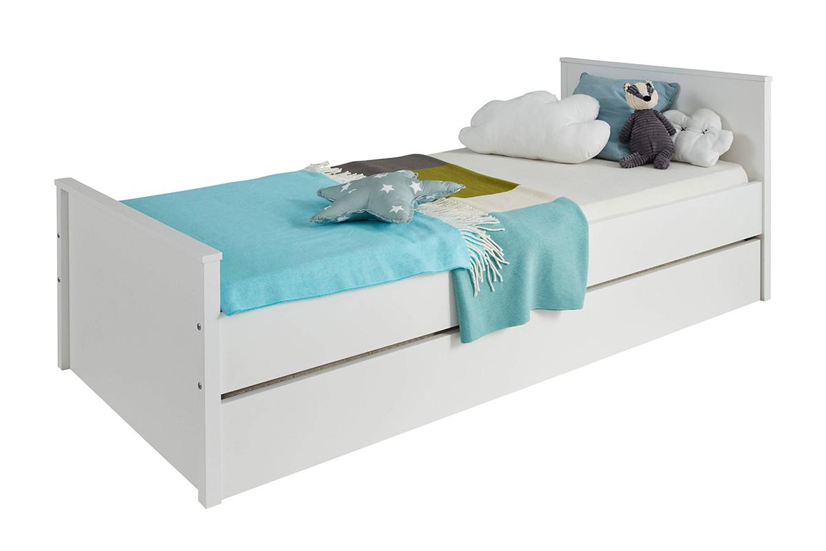 Elegancka rama łóżka 90 x 200 biała