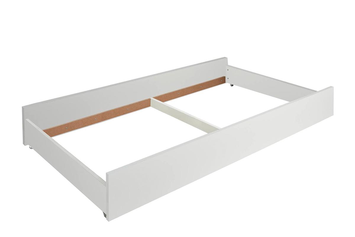 Elegancka szuflada pod łóżko biała
