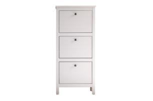 FARGE, https://konsimo.pl/kolekcja/farge/ Elegancka wysoka szafka na buty biała biały - zdjęcie