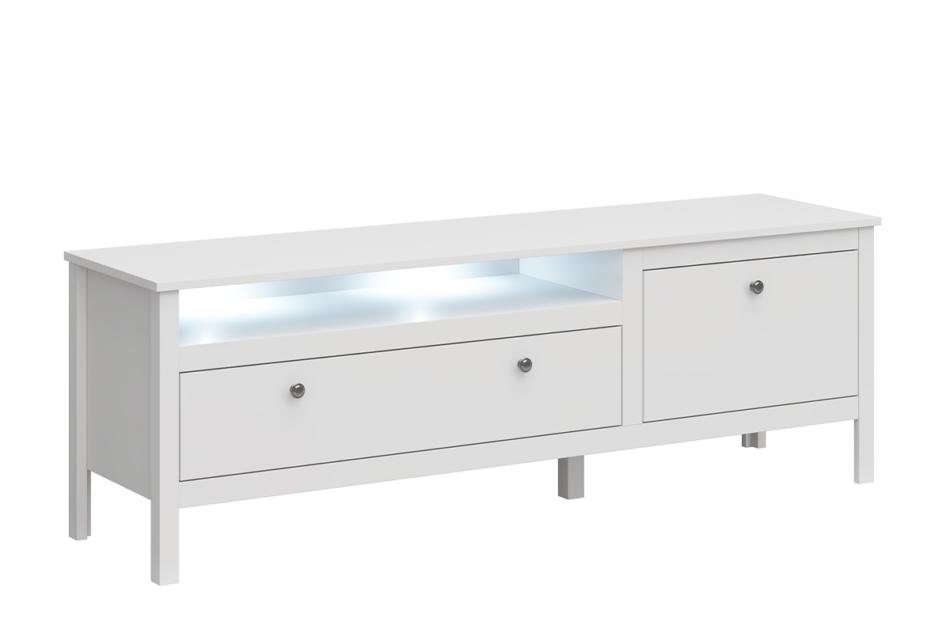 FARGE Elegancka szafka rtv 160 cm biała biały - zdjęcie 0