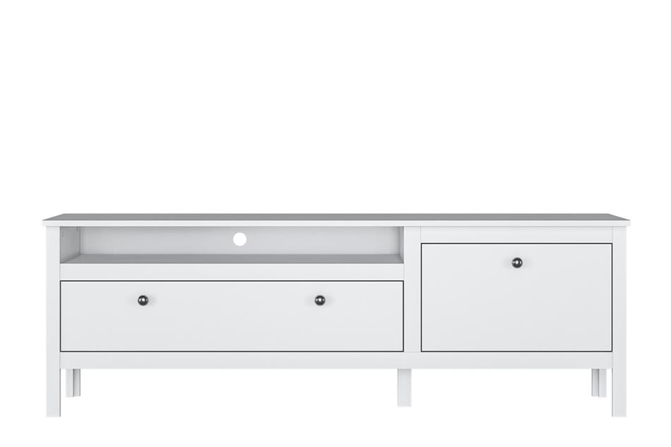FARGE Elegancka szafka rtv 160 cm biała biały - zdjęcie 2