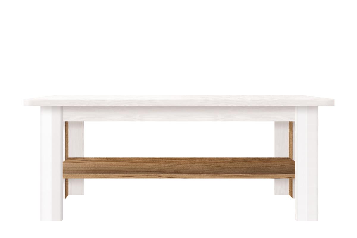 Stolik kawowy w stylu klasycznym biały / orzech
