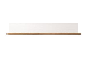 MILVO, https://konsimo.pl/kolekcja/milvo/ Półka wisząca 105 cm w stylu klasycznym biała / orzech biały/orzech naturalny - zdjęcie