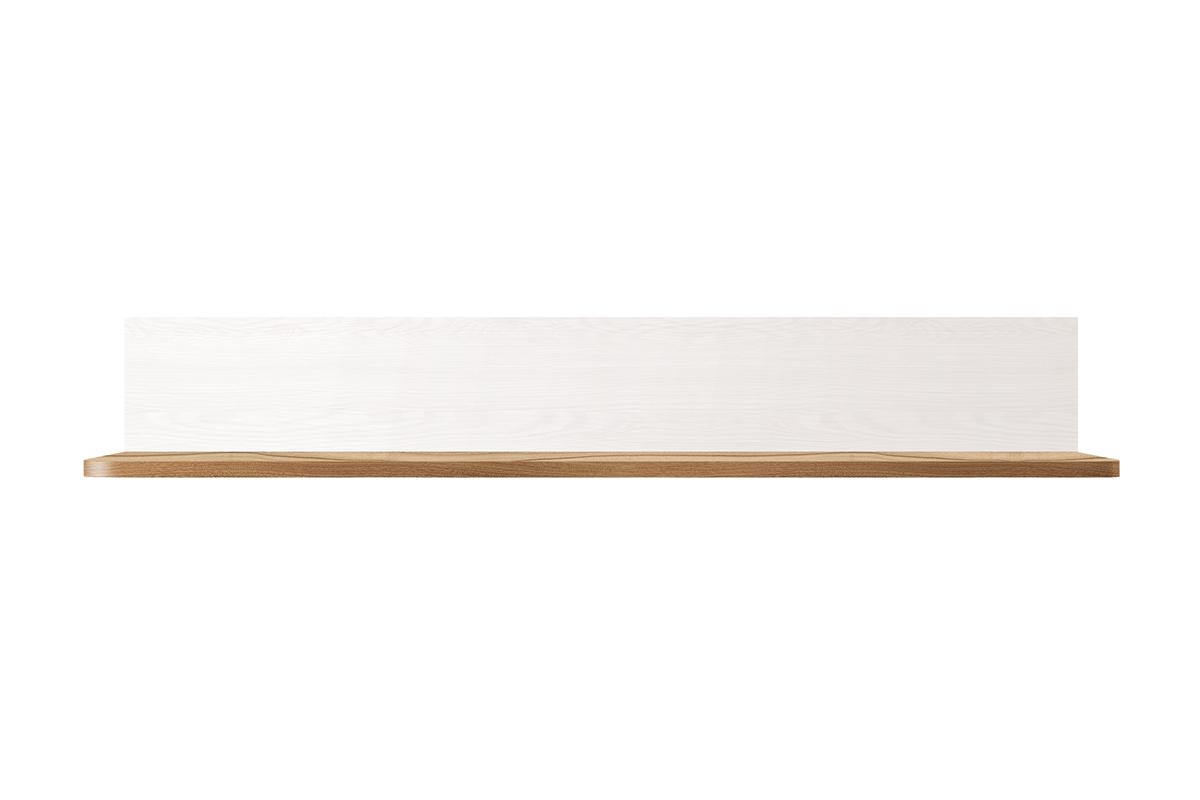 Półka wisząca 105 cm w stylu klasycznym biała / orzech