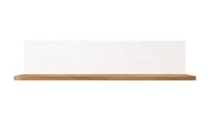 MILVO, https://konsimo.pl/kolekcja/milvo/ Półka wisząca 150 cm w stylu klasycznym biała / orzech biały/orzech naturalny - zdjęcie