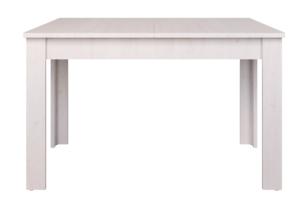 MILVO, https://konsimo.pl/kolekcja/milvo/ Stół rozkładany 130 cm w stylu klasycznym biały biały - zdjęcie