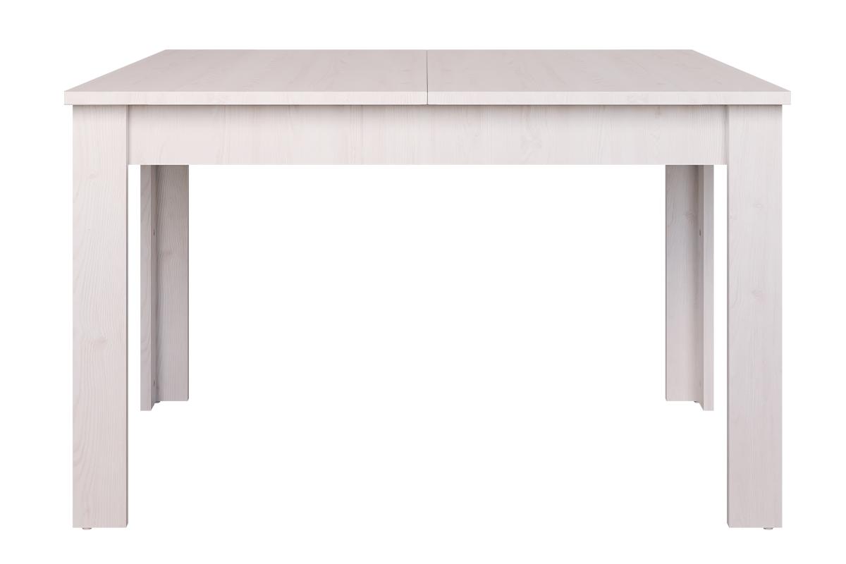Stół rozkładany 130 cm w stylu klasycznym biały