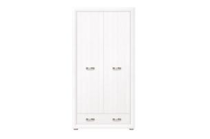 MILVO, https://konsimo.pl/kolekcja/milvo/ Szafa dwudrzwiowa w stylu klasycznym biała biały - zdjęcie