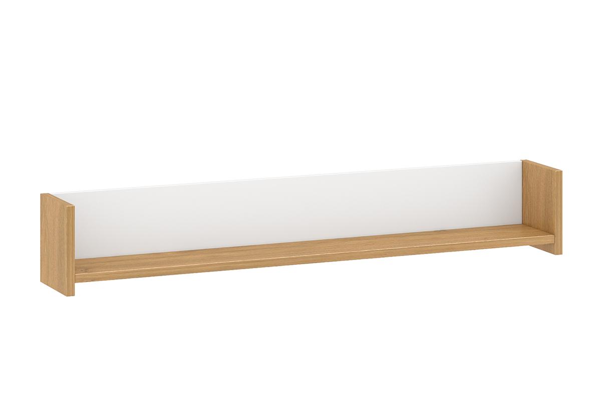 Skandynawska półka wisząca 140 cm biała / dąb