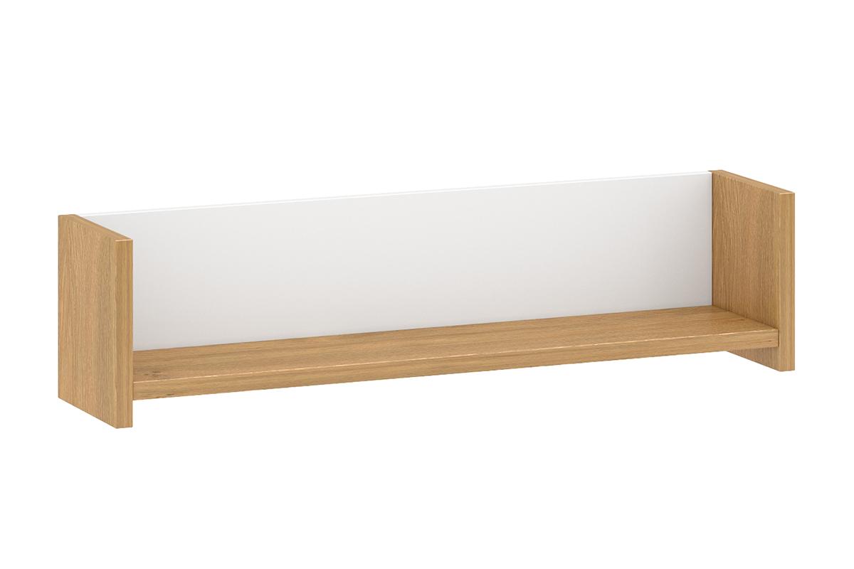 Skandynawska półka wisząca 90 cm biała / dąb