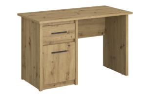 LEORI, https://konsimo.pl/kolekcja/leori/ Biurko z półkami i szufladą w stylu loft dąb artisan dąb artisan - zdjęcie