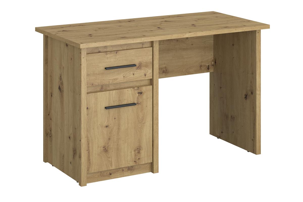Biurko z półkami i szufladą w stylu loft dąb artisan