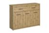 LEORI Duża komoda 125 cm w stylu loft dąb artisan dąb artisan - zdjęcie 1