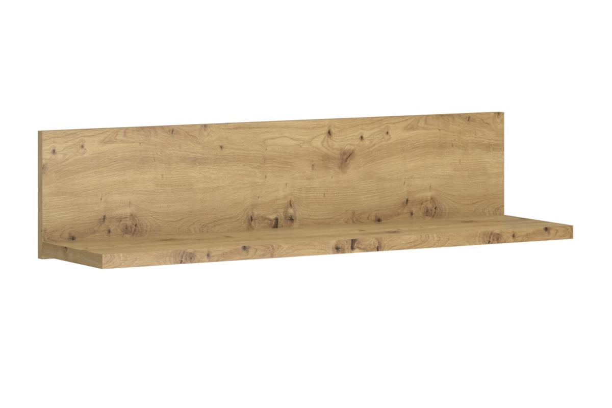 Półka wisząca 125 cm w stylu loft dąb artisan