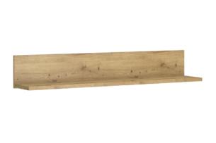 LEORI, https://konsimo.pl/kolekcja/leori/ Półka wisząca 85 cm w stylu loft dąb artisan dąb artisan - zdjęcie