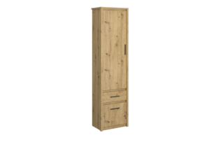 LEORI, https://konsimo.pl/kolekcja/leori/ Regał z półkami i szufladą w stylu loft dąb artisan dąb artisan - zdjęcie