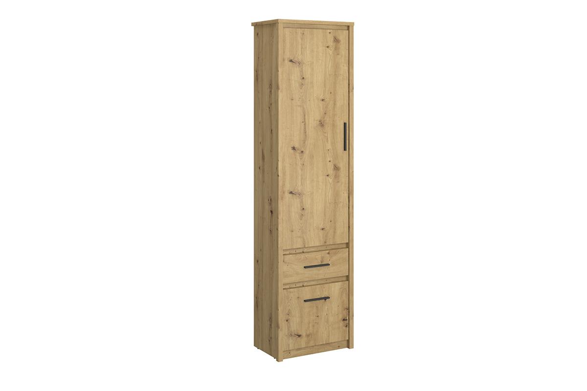 Regał z półkami i szufladą w stylu loft dąb artisan