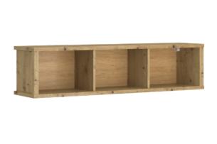 LEORI, https://konsimo.pl/kolekcja/leori/ Regał wiszący 125 cm w stylu loft dąb artisan dąb artisan - zdjęcie