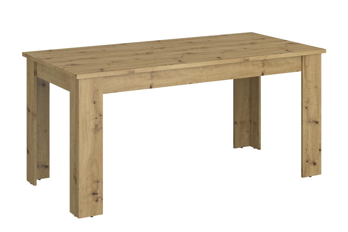 Stół rozkładany 160 cm w stylu loft dąb artisan