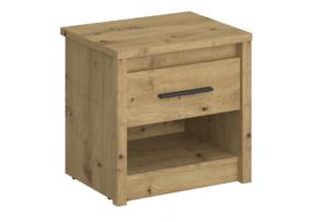 LEORI, https://konsimo.pl/kolekcja/leori/ Szafka nocna z półką w stylu loft dąb artisan dąb artisan - zdjęcie