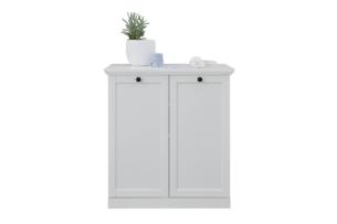 LIANTE, https://konsimo.pl/kolekcja/liante/ Komoda z półkami do przedpokoju biała biały - zdjęcie