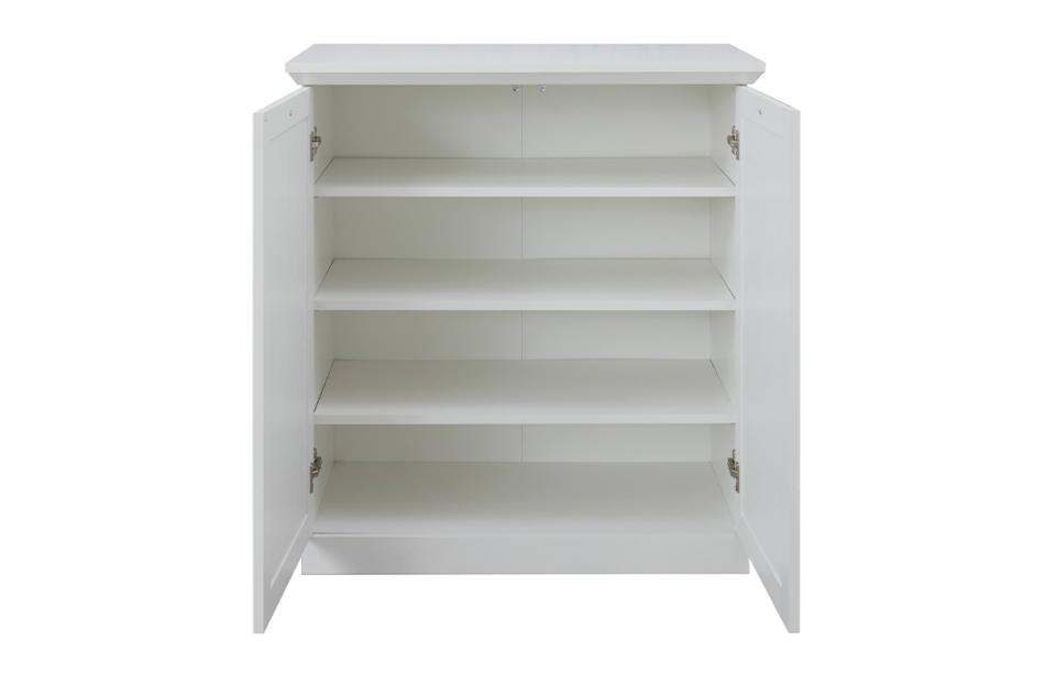 LIANTE Komoda z półkami do przedpokoju biała biały - zdjęcie 2