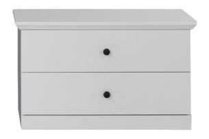 LIANTE, https://konsimo.pl/kolekcja/liante/ Niska komoda do przedpokoju biała biały - zdjęcie