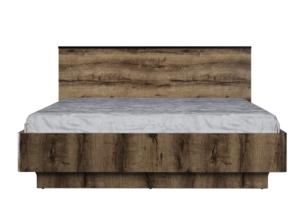 LANDU, https://konsimo.pl/kolekcja/landu/ Nowoczesna rama łóżka 160x200 dąb monastery - zdjęcie
