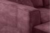 NORIS Narożnik z pufą welur magenta bordowy - zdjęcie 13