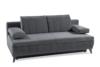 VENTI Sofa z funkcją spania z podłokietnikami welur szara szary - zdjęcie 3
