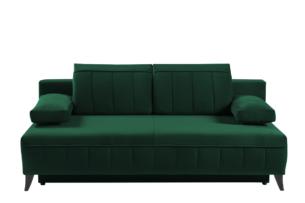 VENTI, https://konsimo.pl/kolekcja/venti/ Sofa z funkcją spania z podłokietnikami welur butelkowa zieleń ciemny zielony - zdjęcie