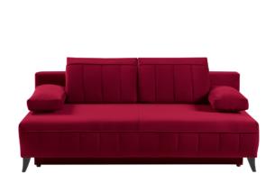 VENTI, https://konsimo.pl/kolekcja/venti/ Sofa z funkcją spania z podłokietnikami welur bordowa bordowy - zdjęcie