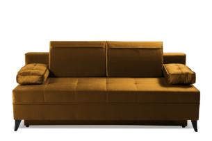 NETISO, https://konsimo.pl/kolekcja/netiso/ Wygodna sofa pikowane podłokietniki musztardowa musztardowy - zdjęcie