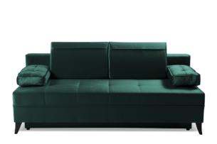 NETISO, https://konsimo.pl/kolekcja/netiso/ Wygodna sofa pikowane podłokietniki butelkowa zieleń ciemny zielony - zdjęcie