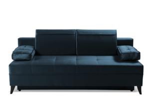 NETISO, https://konsimo.pl/kolekcja/netiso/ Wygodna sofa pikowane podłokietniki niebieska morski - zdjęcie