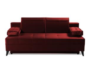 NETISO, https://konsimo.pl/kolekcja/netiso/ Wygodna sofa pikowane podłokietniki bordowa bordowy - zdjęcie