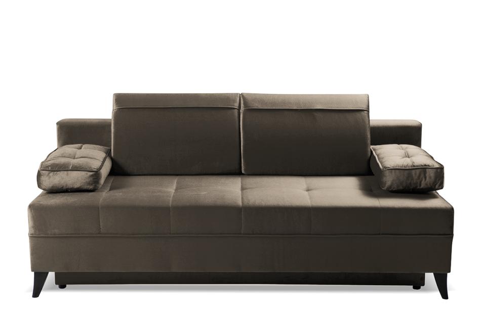NETISO Wygodna sofa pikowane podłokietniki beżowa beżowy - zdjęcie 0