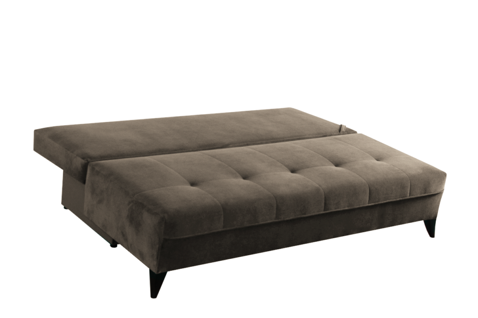 NETISO Wygodna sofa pikowane podłokietniki beżowa beżowy - zdjęcie 3