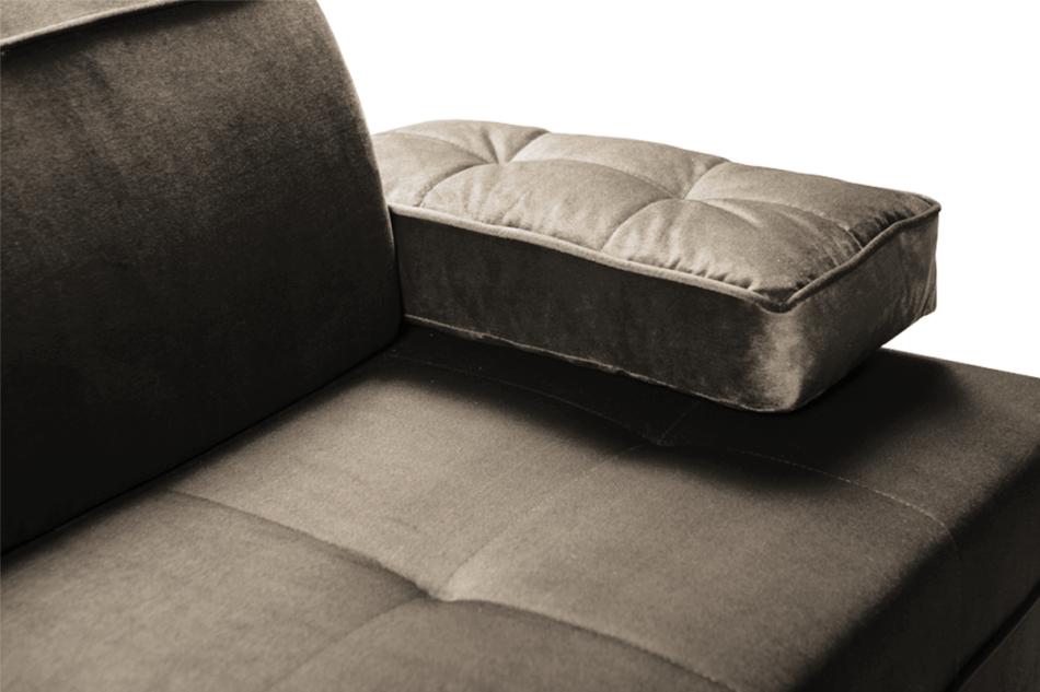 NETISO Wygodna sofa pikowane podłokietniki beżowa beżowy - zdjęcie 4