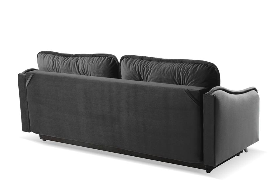 MELICO Kanapa rozkładana duże poduszki welur szara szary - zdjęcie 3
