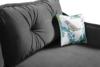 MELICO Kanapa rozkładana duże poduszki welur szara szary - zdjęcie 6