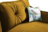 MELICO Kanapa rozkładana duże poduszki welur żółta musztardowy - zdjęcie 6