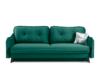 MELICO Kanapa rozkładana duże poduszki welur ciemnozielona ciemny zielony - zdjęcie 1