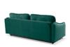 MELICO Kanapa rozkładana duże poduszki welur ciemnozielona ciemny zielony - zdjęcie 5