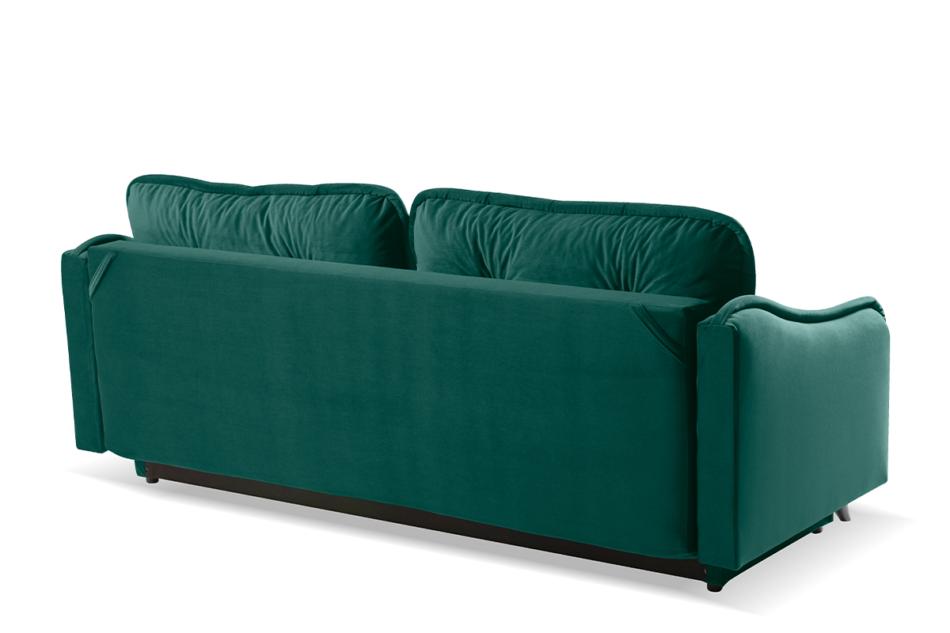 MELICO Kanapa rozkładana duże poduszki welur ciemnozielona ciemny zielony - zdjęcie 4