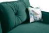 MELICO Kanapa rozkładana duże poduszki welur ciemnozielona ciemny zielony - zdjęcie 6