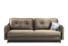 MELICO Kanapa rozkładana duże poduszki welur beżowa beżowy - zdjęcie 1