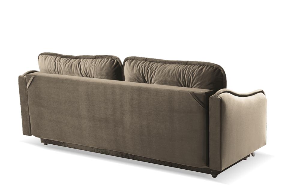 MELICO Kanapa rozkładana duże poduszki welur beżowa beżowy - zdjęcie 3