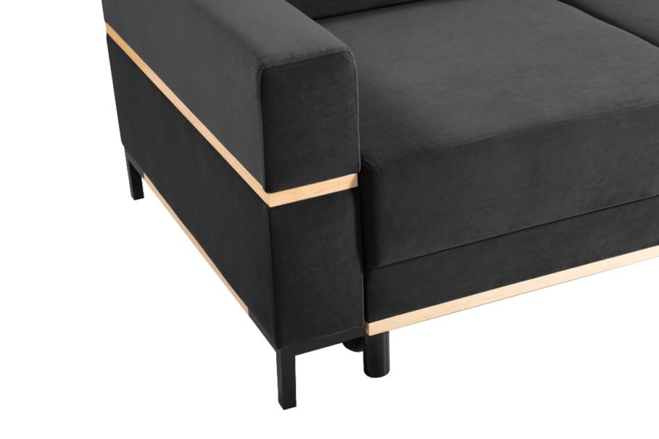 BOHUS Rozkładana sofa 3 osobowa w stylu skandynawskim grafit grafitowy - zdjęcie 2